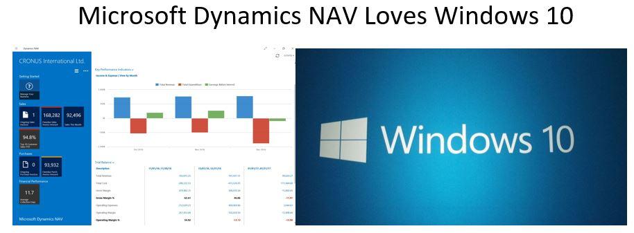 Microsoft Dynamics loves Windows 10