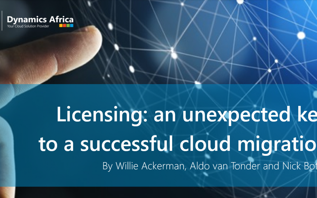 Licensing: an unexpected key to a successful cloud migration